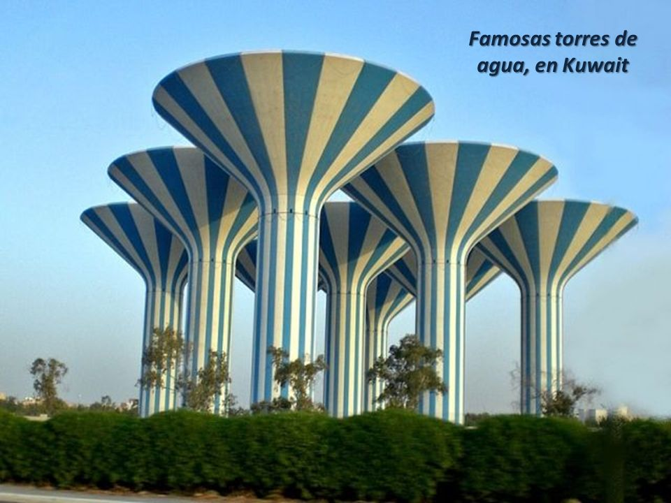 Famosas torres de agua, en Kuwait