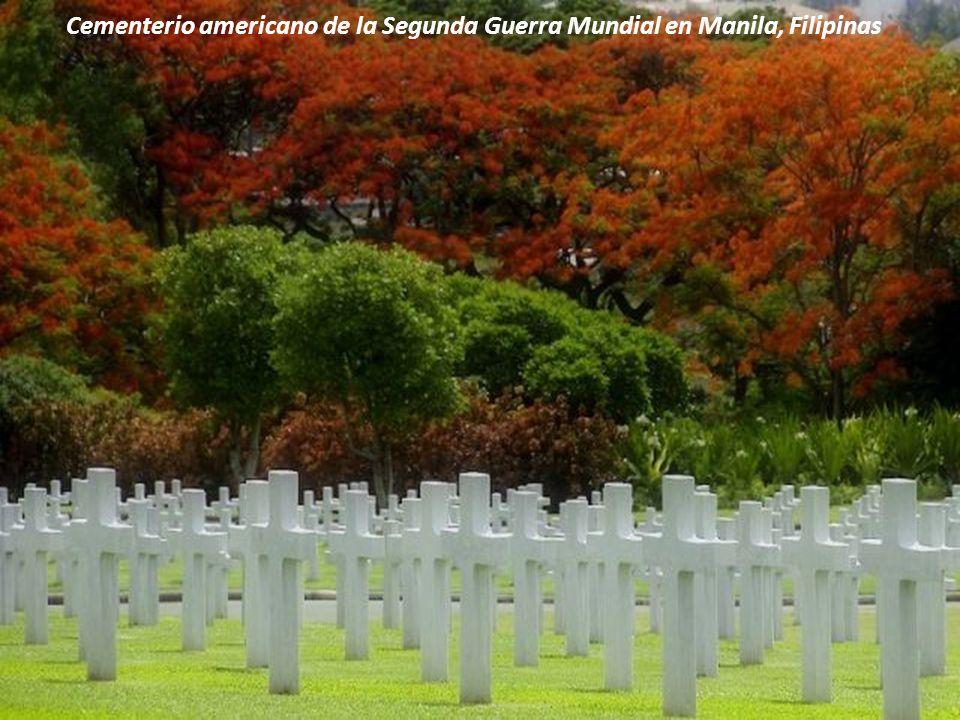 Cementerio americano de la Segunda Guerra Mundial en Manila, Filipinas