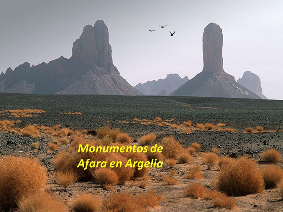 Monumentos de Afara en Argelia