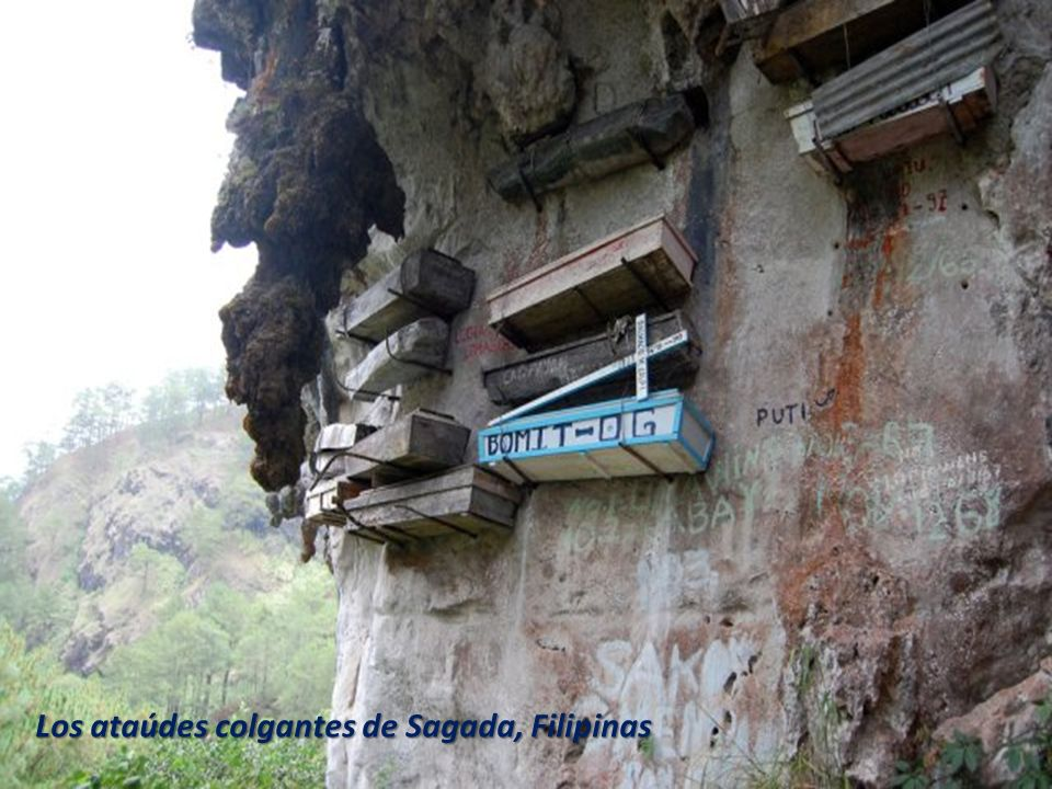 Los ataúdes colgantes de Sagada, Filipinas