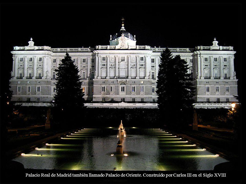 Palacio Real de Madrid también llamado Palacio de Oriente