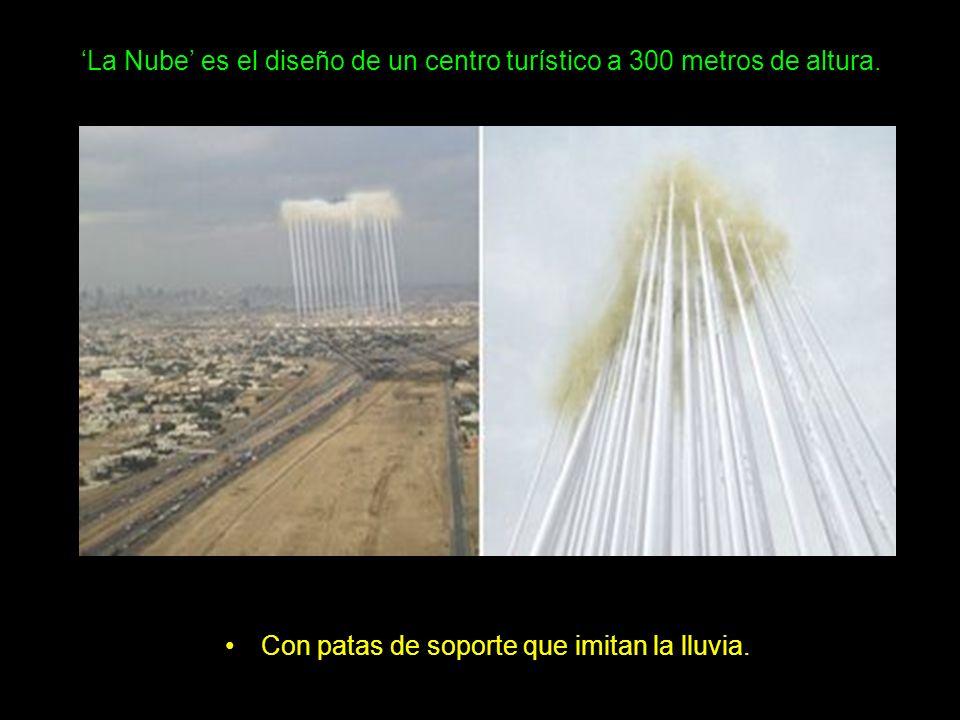 'La Nube' es el diseño de un centro turístico a 300 metros de altura.