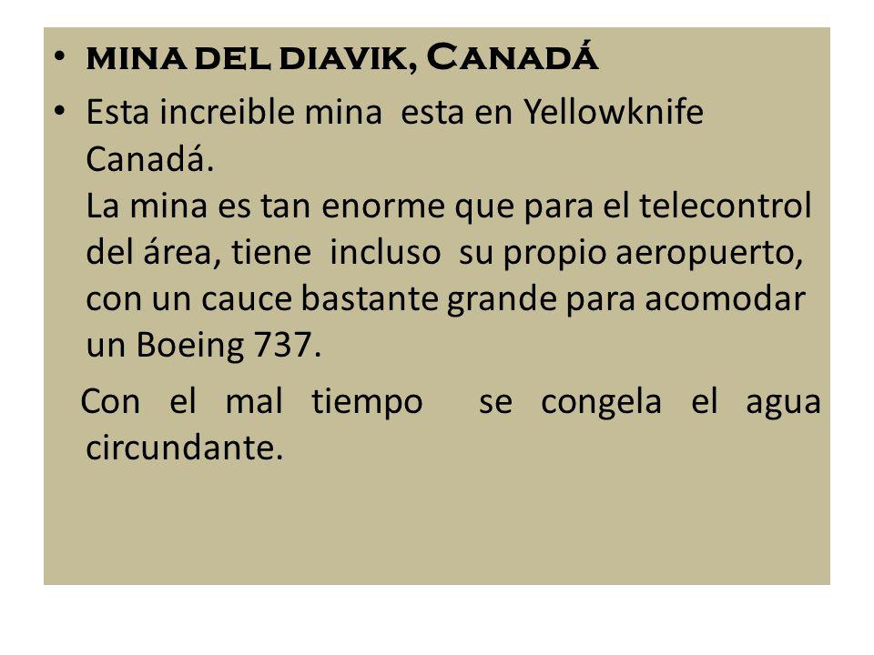 mina del diavik, Canadá