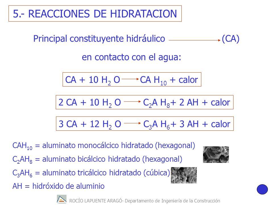 5.- REACCIONES DE HIDRATACION