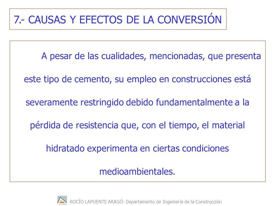 7.- CAUSAS Y EFECTOS DE LA CONVERSIÓN
