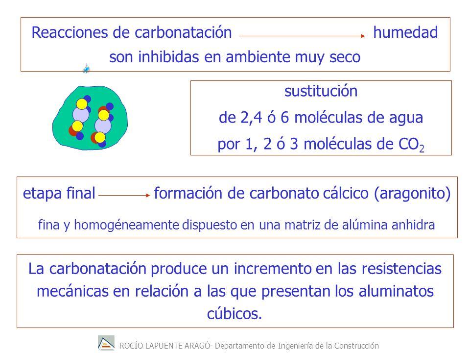 Reacciones de carbonatación humedad son inhibidas en ambiente muy seco