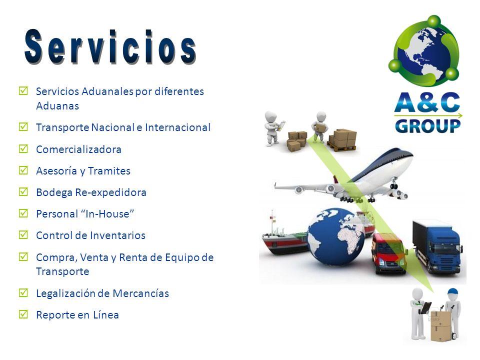 Servicios Servicios Aduanales por diferentes Aduanas
