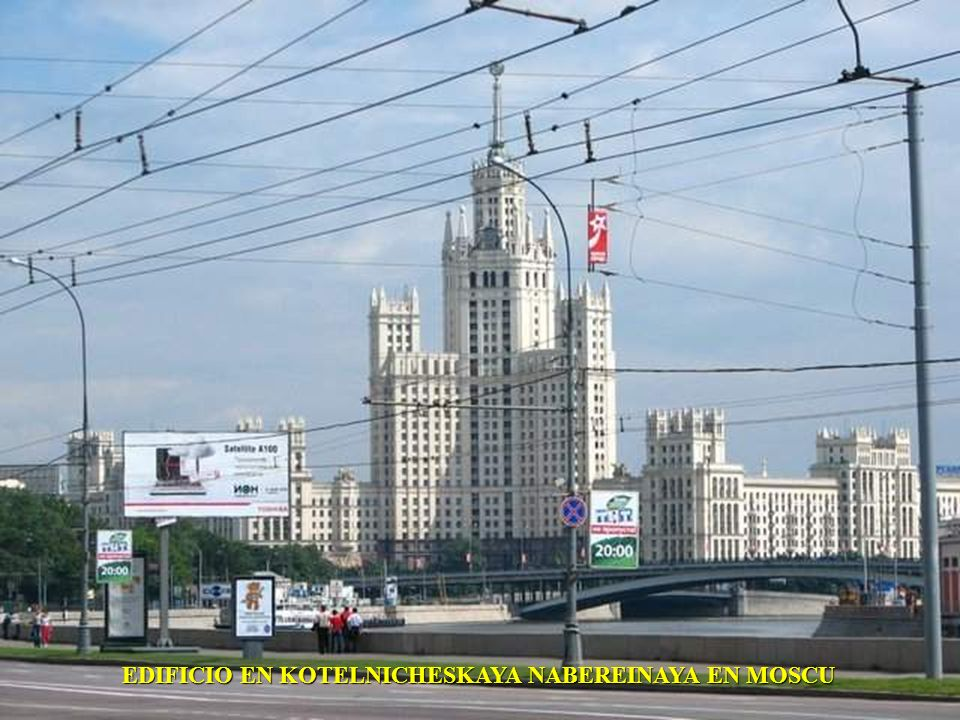 EDIFICIO EN KOTELNICHESKAYA NABEREINAYA EN MOSCU
