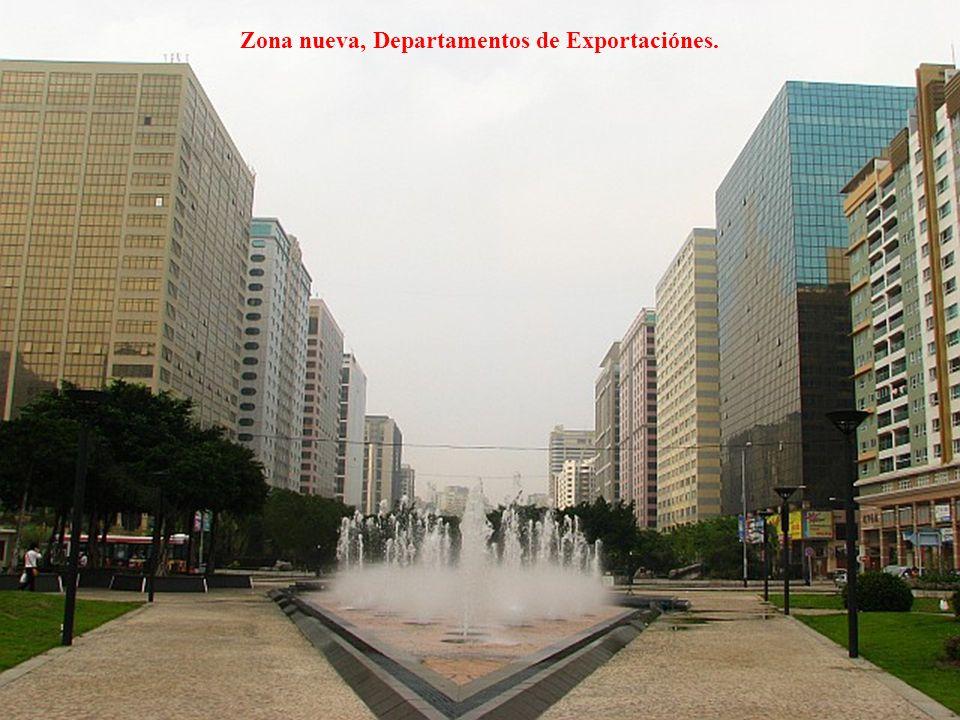 Zona nueva, Departamentos de Exportaciónes.