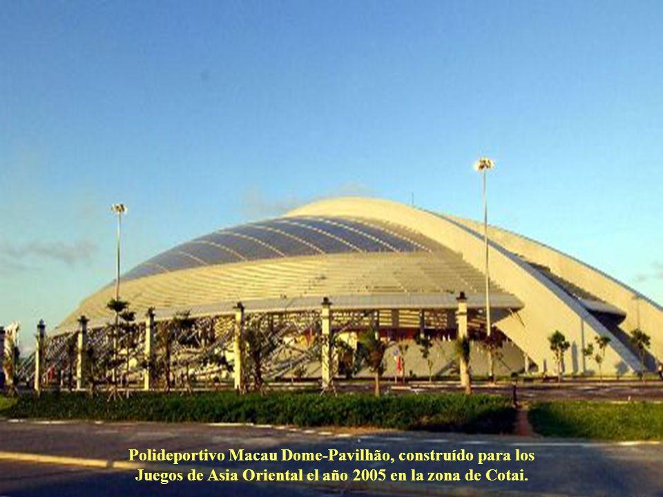 Polideportivo Macau Dome-Pavilhão, construído para los