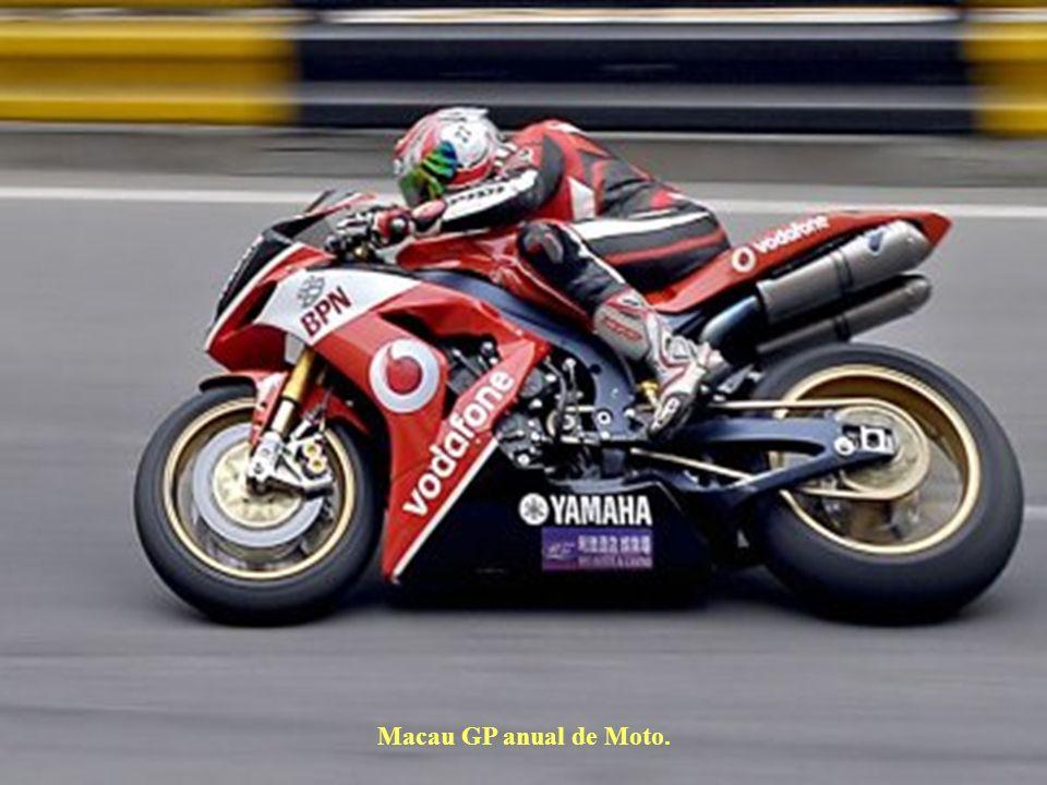 Macau GP anual de Moto.