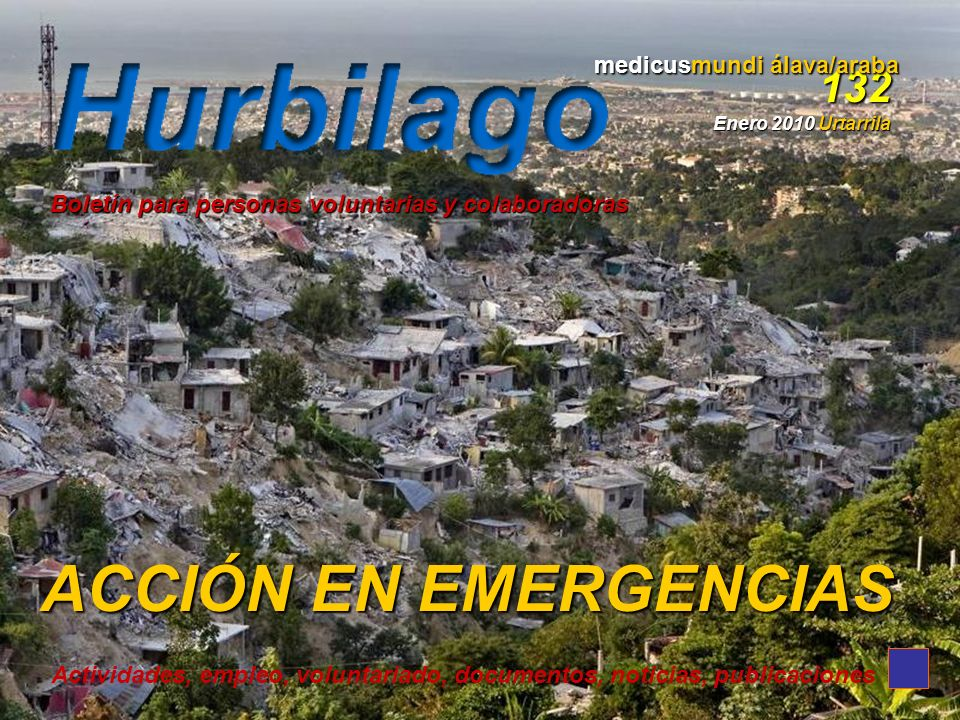 ACCIÓN EN EMERGENCIAS 132 medicusmundi álava/araba