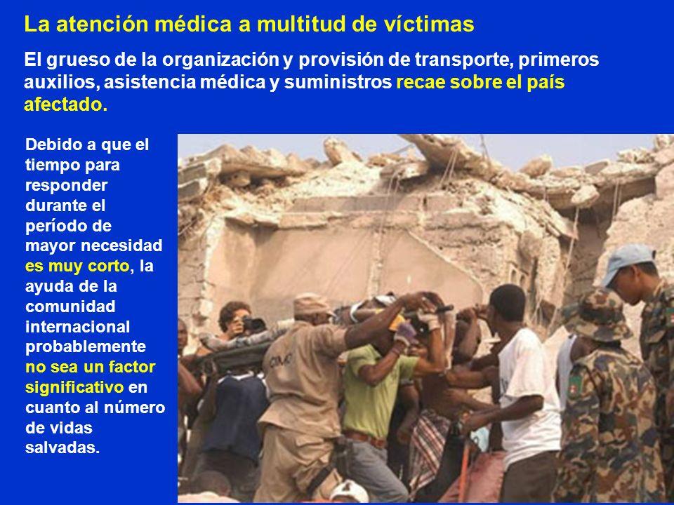 La atención médica a multitud de víctimas