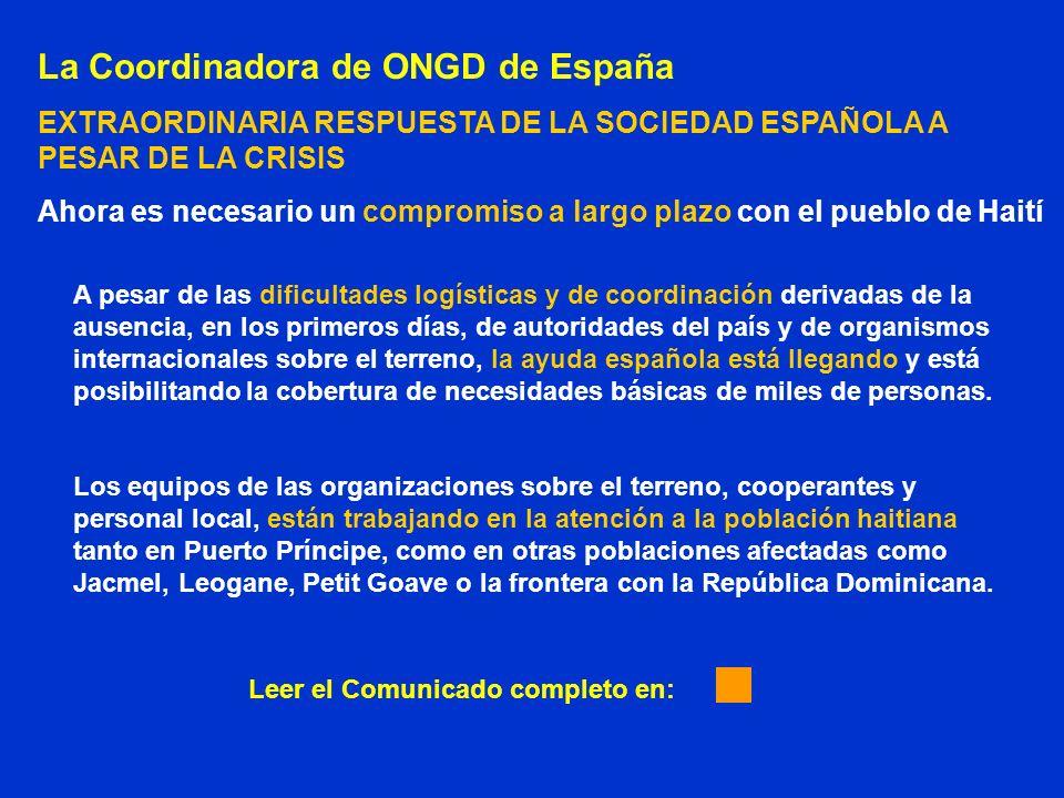La Coordinadora de ONGD de España