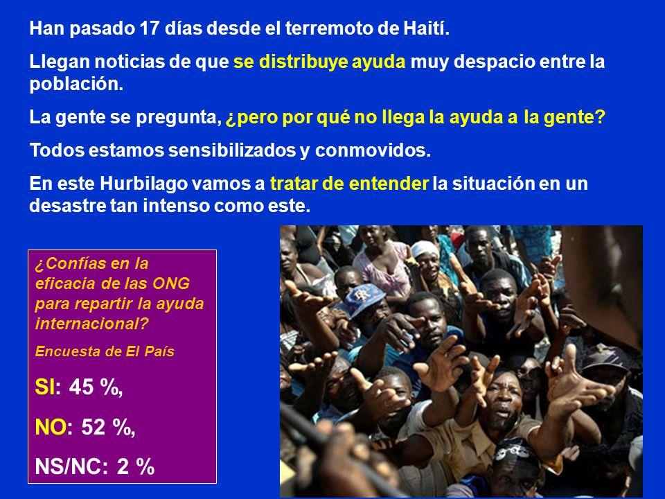 Han pasado 17 días desde el terremoto de Haití.