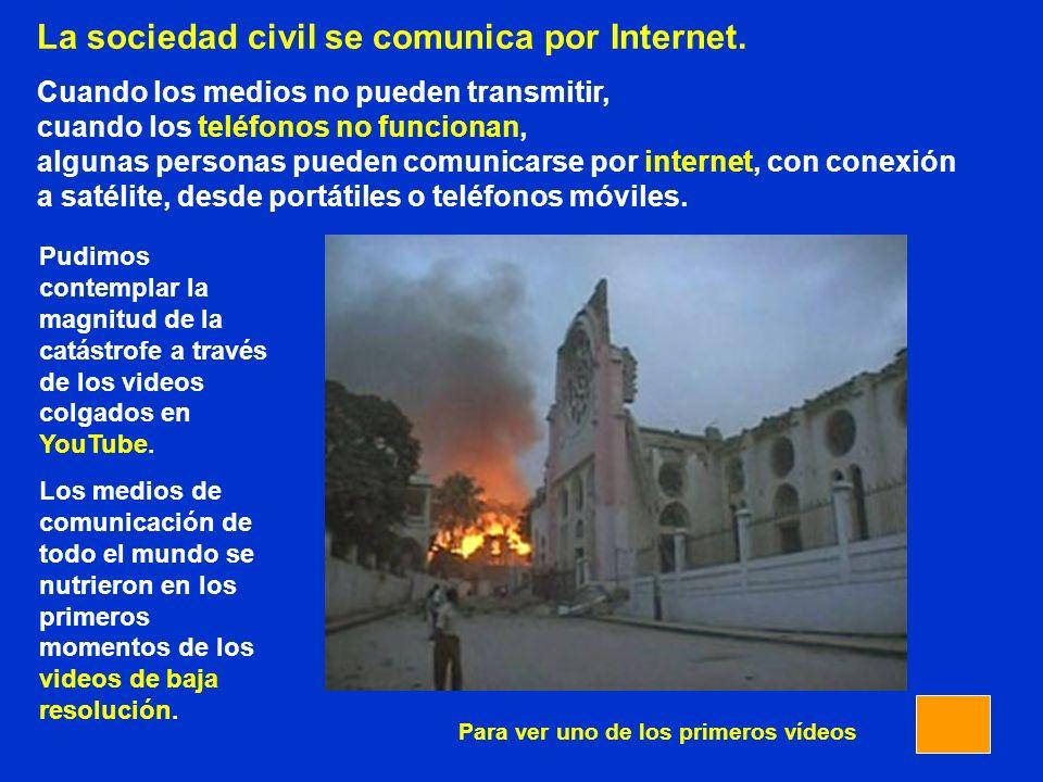 La sociedad civil se comunica por Internet.