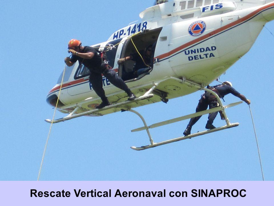 Rescate Vertical Aeronaval con SINAPROC