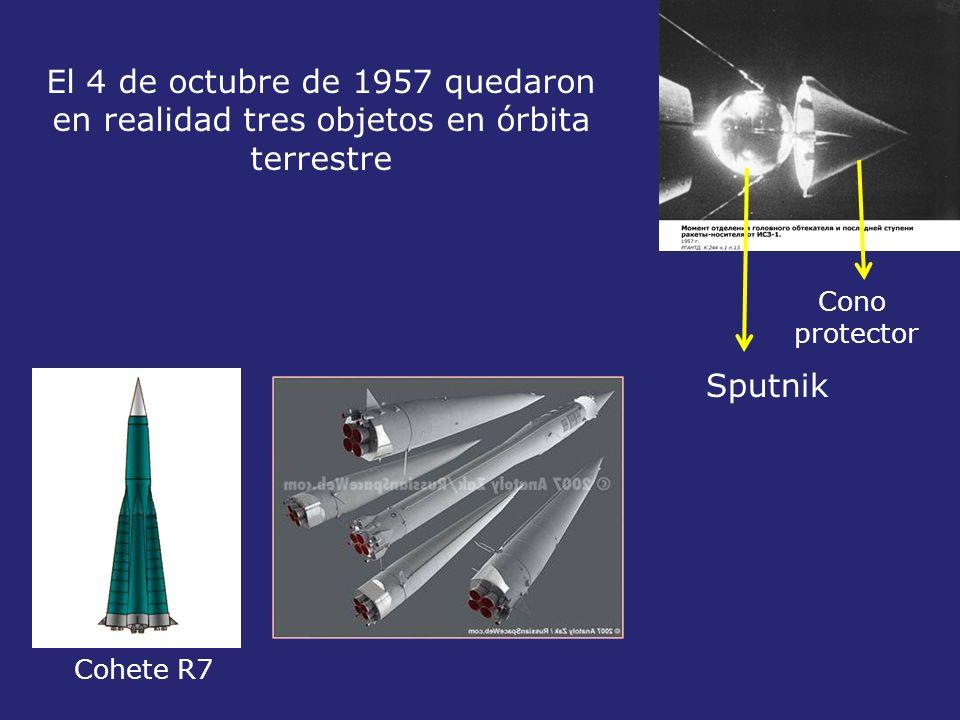 El 4 de octubre de 1957 quedaron en realidad tres objetos en órbita terrestre