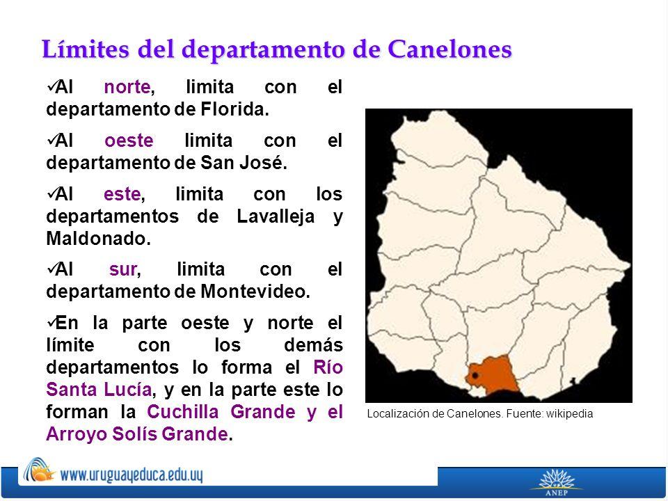 Límites del departamento de Canelones
