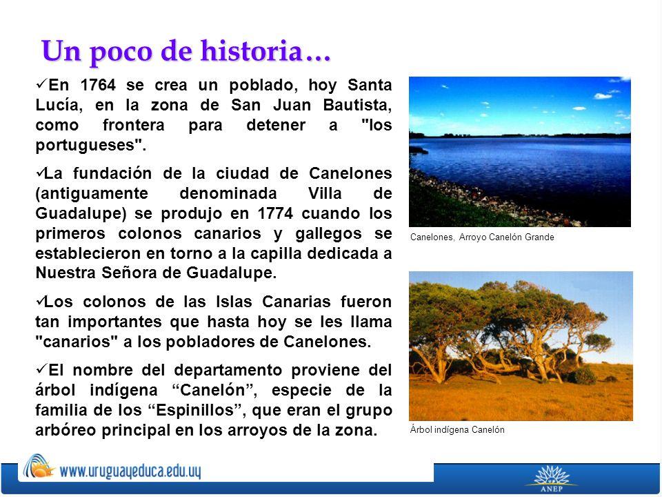 Un poco de historia… En 1764 se crea un poblado, hoy Santa Lucía, en la zona de San Juan Bautista, como frontera para detener a los portugueses .