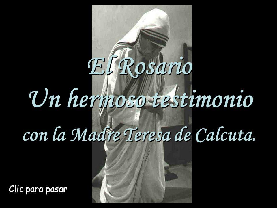 con la Madre Teresa de Calcuta.
