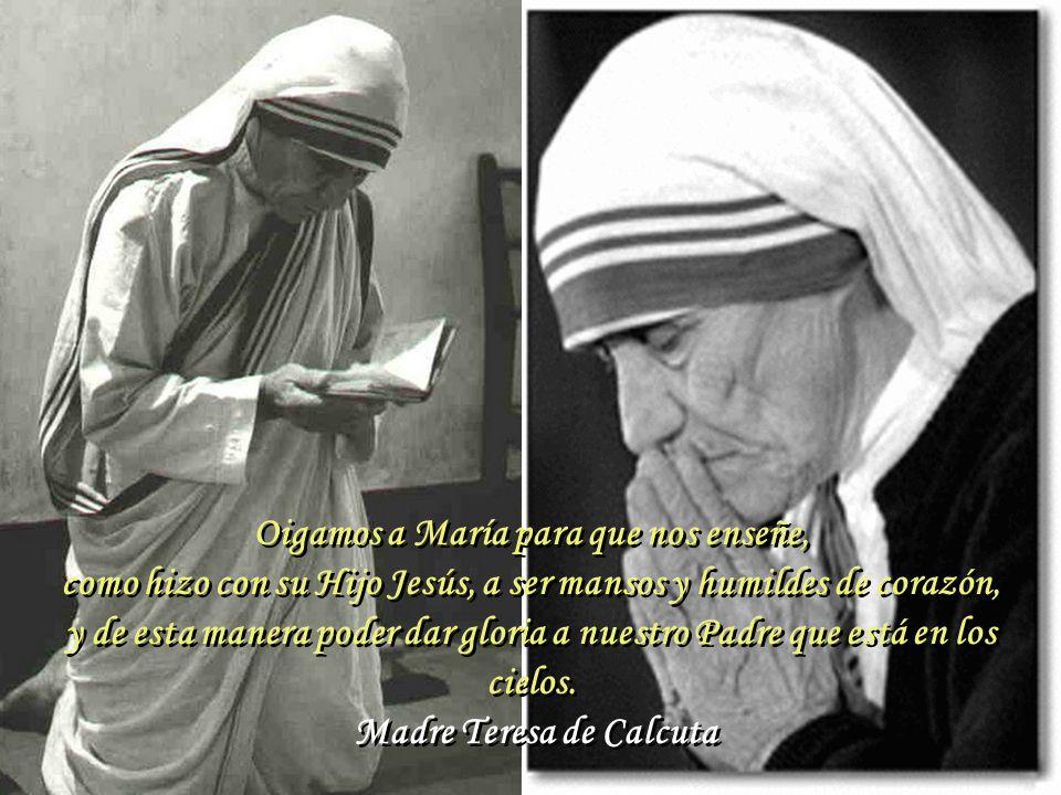 Oigamos a María para que nos enseñe,