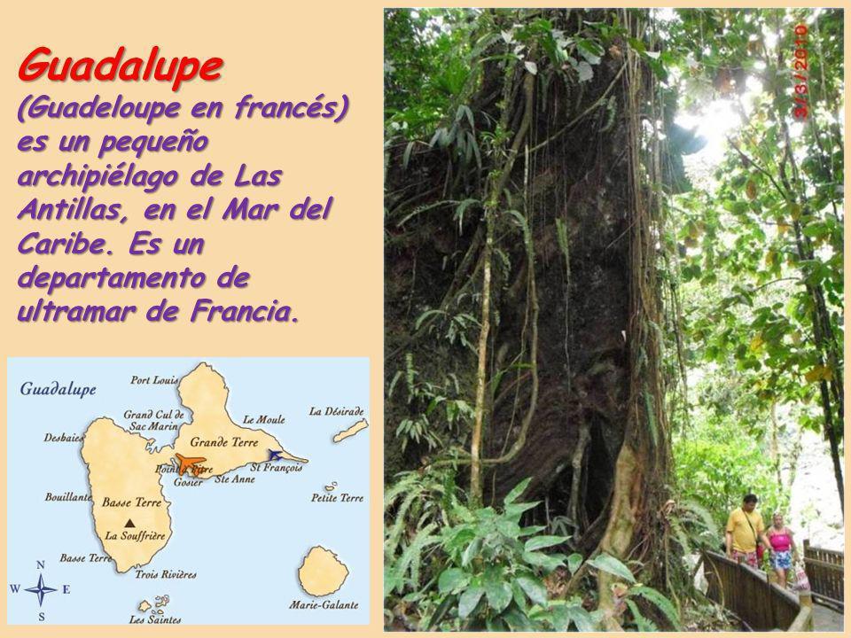 Guadalupe (Guadeloupe en francés) es un pequeño archipiélago de Las Antillas, en el Mar del Caribe.