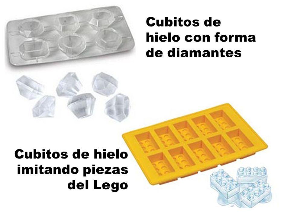 Cubitos de hielo con forma de diamantes