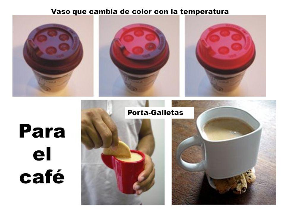 Para el café Vaso que cambia de color con la temperatura