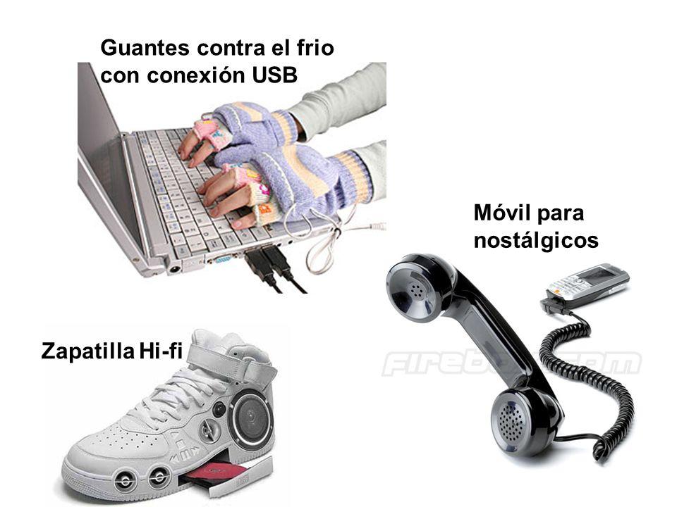 Guantes contra el frio con conexión USB