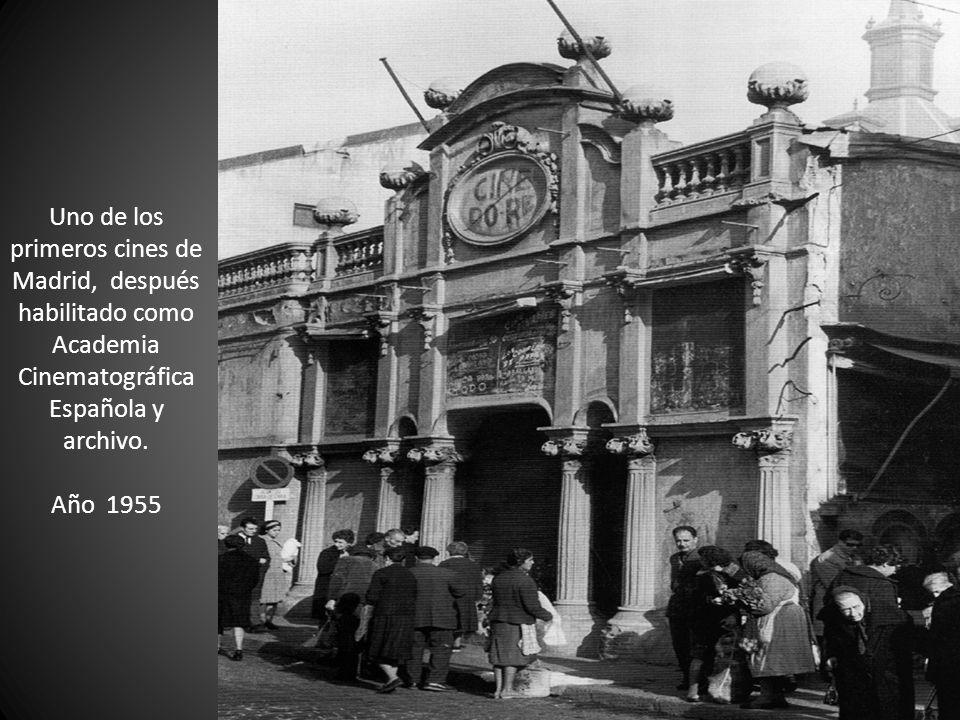 Uno de los primeros cines de Madrid, después habilitado como Academia Cinematográfica Española y archivo.