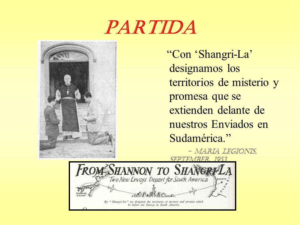 Partida Con 'Shangri-La' designamos los territorios de misterio y promesa que se extienden delante de nuestros Enviados en Sudamérica.