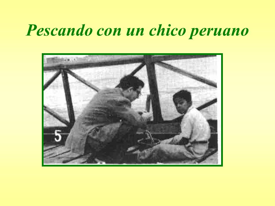 Pescando con un chico peruano