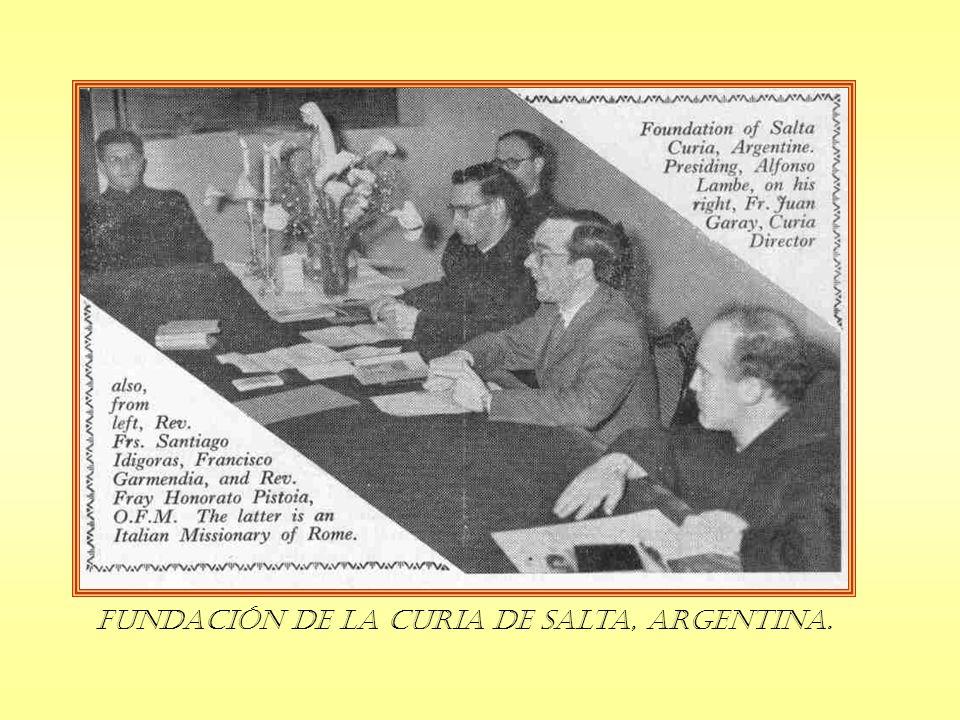 Fundación de la Curia de Salta, Argentina.