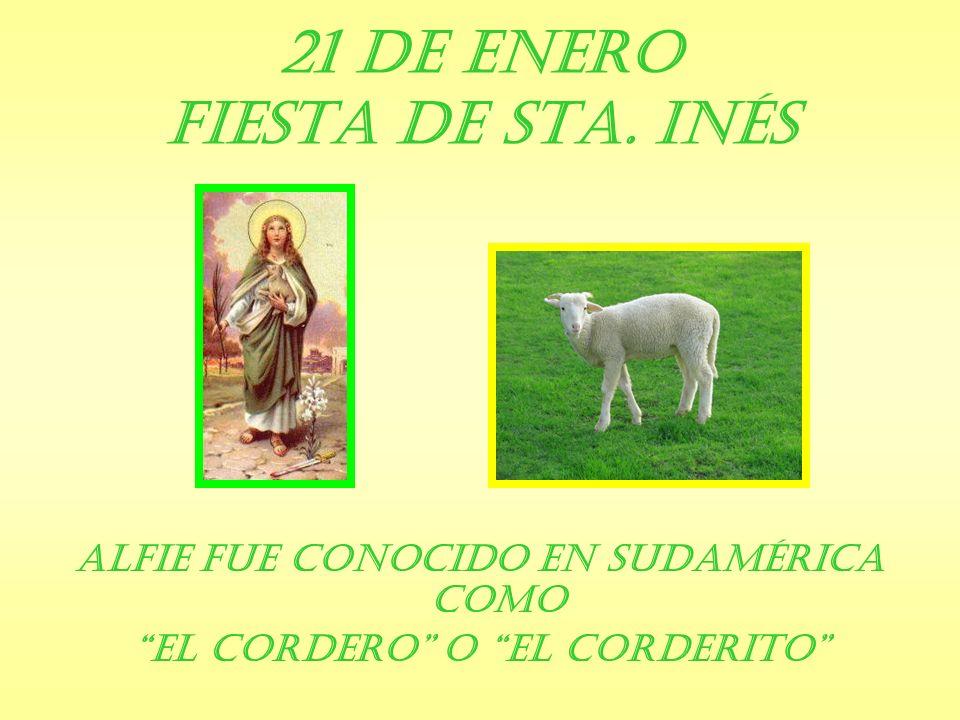 21 de Enero Fiesta de Sta. Inés