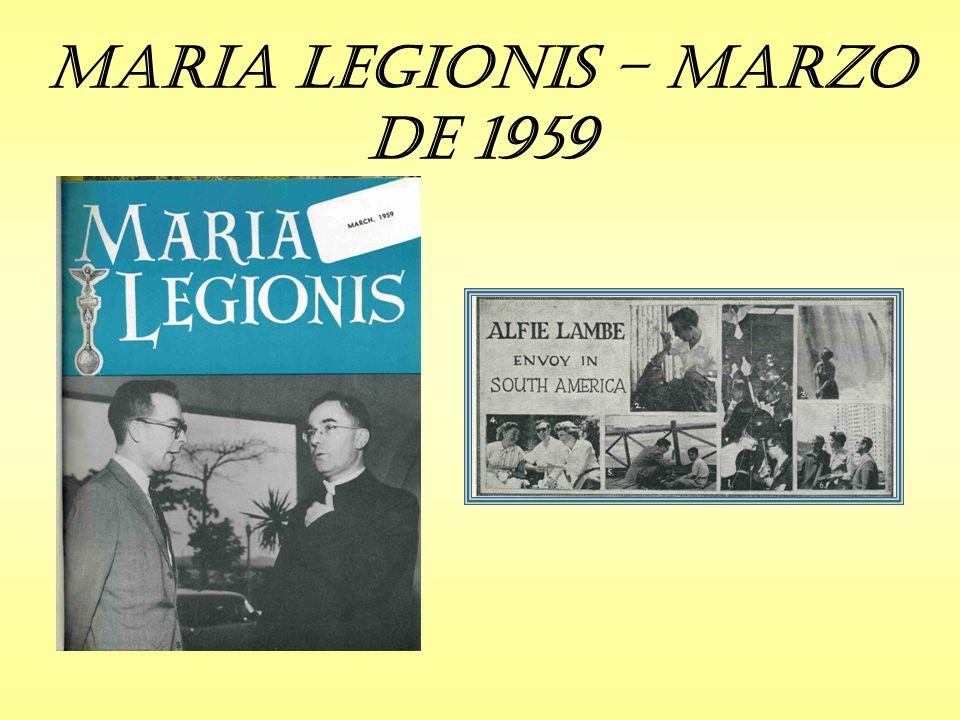 Maria Legionis – Marzo de 1959