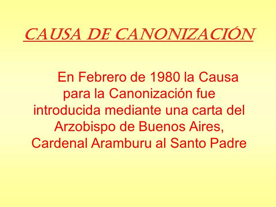 Causa de Canonización