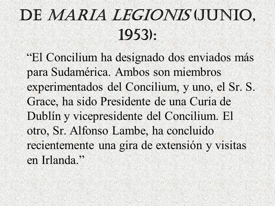 De Maria Legionis (Junio, 1953):