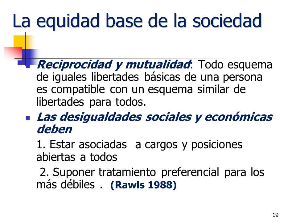 La equidad base de la sociedad