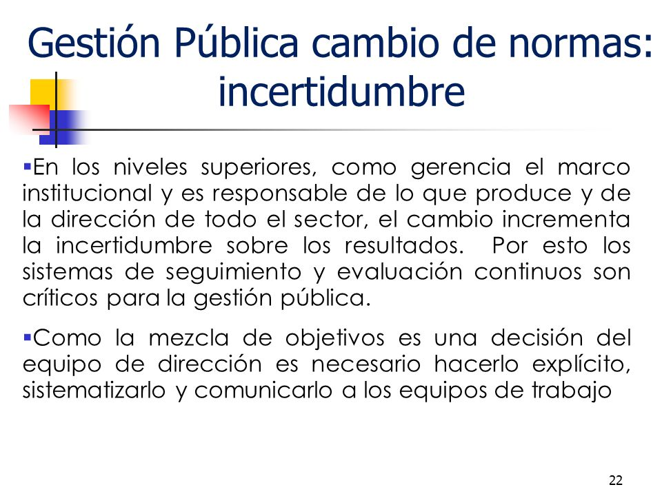 Gestión Pública cambio de normas: incertidumbre