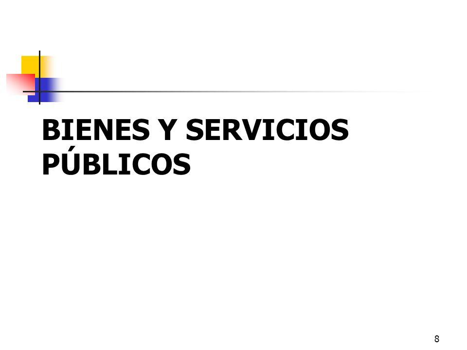 BIENES Y SERVICIOS PÚBLICOS