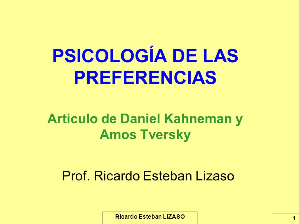 Prof. Ricardo Esteban Lizaso