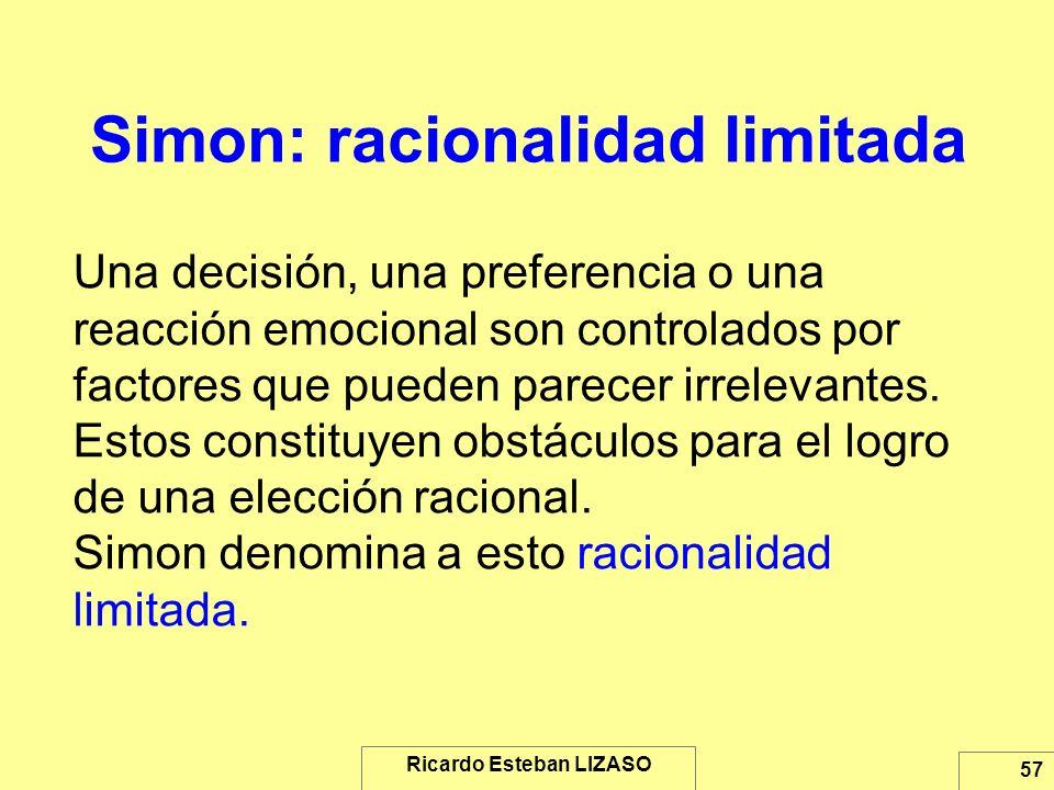 Simon: racionalidad limitada