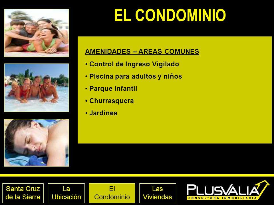 EL CONDOMINIO AMENIDADES – AREAS COMUNES Control de Ingreso Vigilado