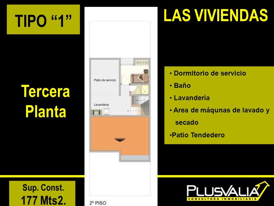 LAS VIVIENDAS TIPO 1 Tercera Planta