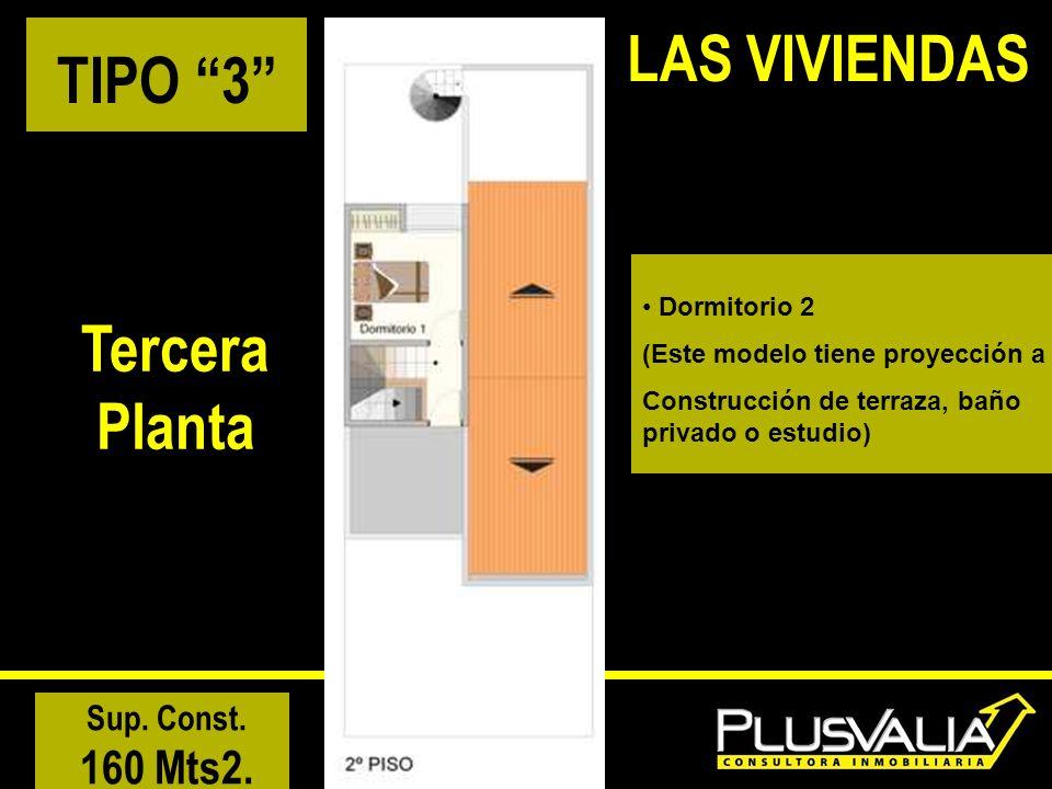 LAS VIVIENDAS TIPO 3 Tercera Planta