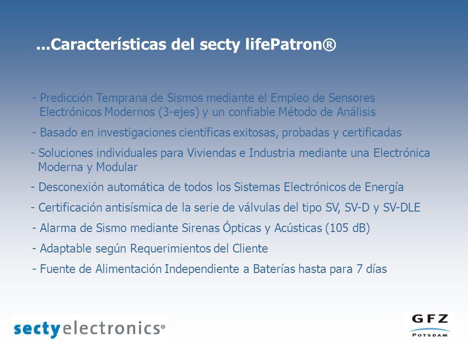 ...Características del secty lifePatron®
