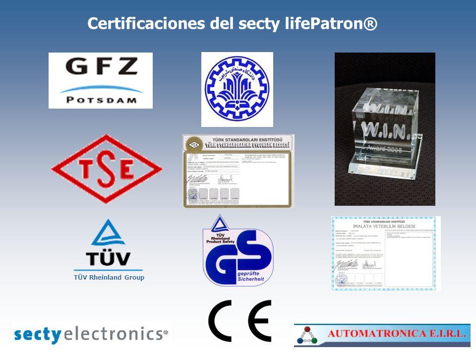 Certificaciones del secty lifePatron®