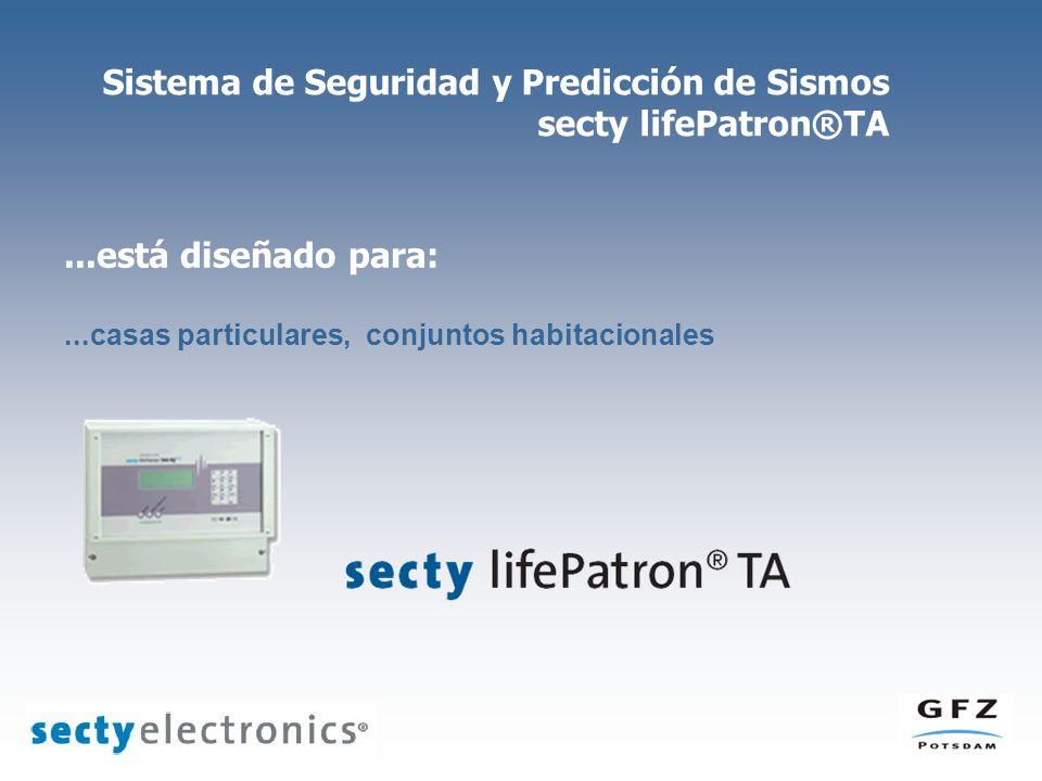 Sistema de Seguridad y Predicción de Sismos secty lifePatron®TA