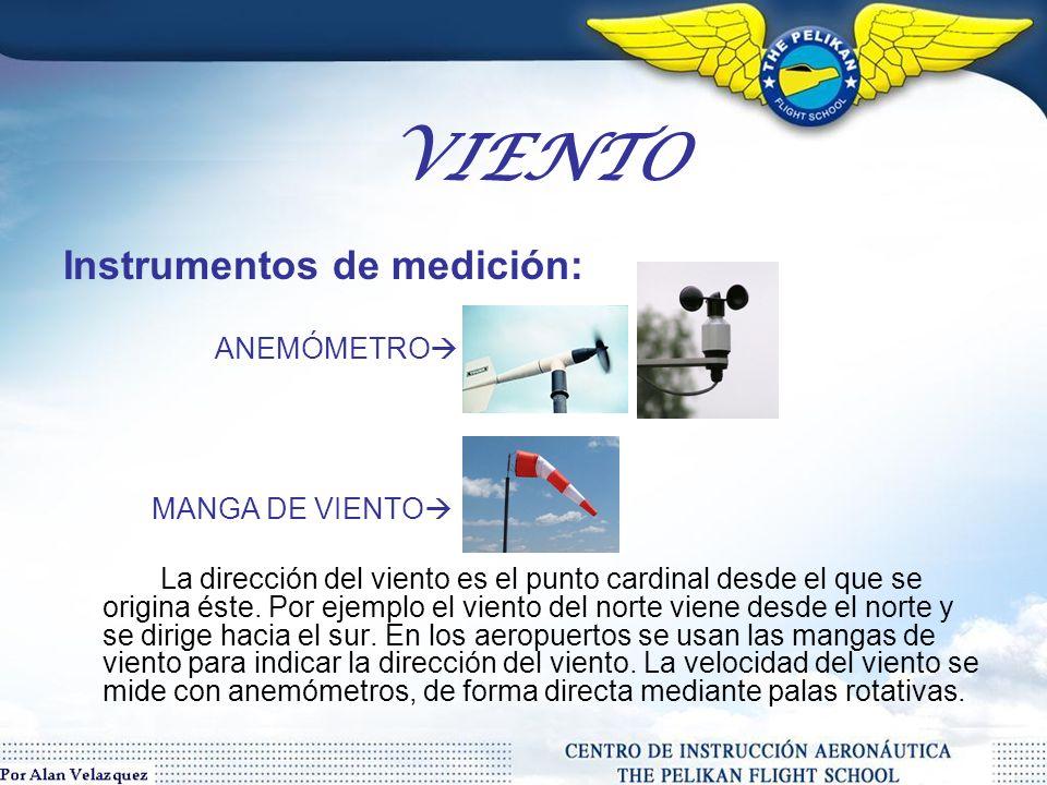 VIENTO Instrumentos de medición: ANEMÓMETRO MANGA DE VIENTO